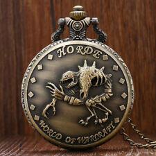 Cool Scorpion World of Warcraft Men Child Quartz Pocket Watch 80cm Chain Gift