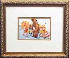 """Graciela Rodo Boulanger """"Parade with Bear"""" LITHOGRAPH Custom FRAMED art NEW"""