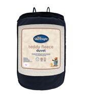 Silentnight Cream Grey Soft Teddy Fleece 10.5 Tog Duvet King Size
