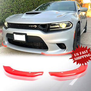 Front Bumper Lip Splitter Spoiler For Dodge Charger SRT Scat Pack 15-2019 RED