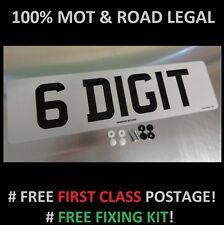 SHORT 6 DIGIT 410mm x 111mm FRONT CAR NUMBER PLATE  100% MOT & ROAD LEGAL