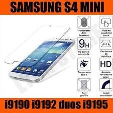 Pellicola vetro temperato per Samsung Galaxy S4 Mini i9190 OLEOFOBICA Antiurto