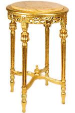 SALONTISCH rund BEISTELLTISCH + MARMOR beige ca.70x45cm LOUIS-TABLE LAMPENTISCH