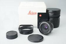 Leica Leitz Elmarit M 21mm f2.8 f/2.8 E60 Lens (11134), Black w/ Lens Hood 12543