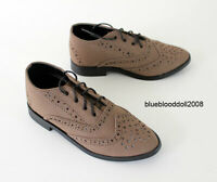 1/3 bjd 70-80cm Iplehouse EID HID Doll tan brown suede huge size oxford shoes