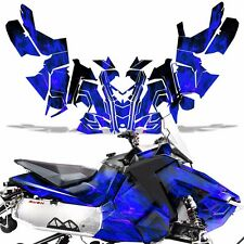 Sled Wrap for Polaris AXYS RUSH Pro S Graphic Snow Decal Kit Snowmobile ICE BLUE