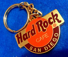 SAN DIEGO DOUBLE SIDED ORANGE GOLD LOGO HRC KEYCHAIN Hard Rock Cafe not a pin