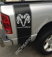 2 Truck vinyl Sticker Graphics stripes Dodge Dakota rear bed logo hemi mopar rt