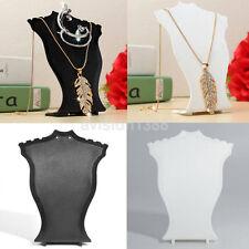 2Pcs 15cm Black Velvet Jewellery Display Bust Necklace Shop Retail Easel 273
