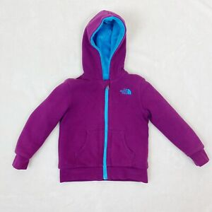 The North Face Toddler Girls Jacket Coat Size 4T Purple Blue Fleece Hooded