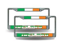 Ireland World Cup Soccer (Football) Chrome Metal (2) License Plate Frame Set