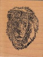"king of beasts taylored art Wood Mounted Rubber Stamp 2 1/2 x 2 1/2""  Free Ship"