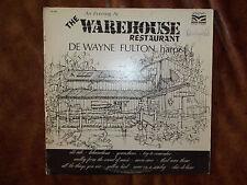 The Warehouse Restaurant De Wayne Fulton harpist Safari Records AUTOGRAPHED!