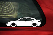 2x LOW Mazda 323F, Astina. / Lantis (BA) car silhouette,outline stickers, Decals