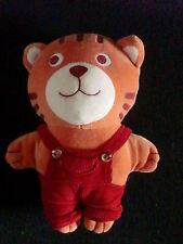 doudou peluche chat tigre orange salopette rouge DPAM DU PAREIL AU MEME 24cm