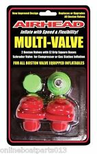 AirHead Inflateable Towable Plug Multi-Valve Insert Boston/Schrader Valve AHMV1