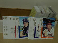 2000 TOPPS GALLERY BASEBALL MASTERS OF THE GAME - 16 CARDS - STARS