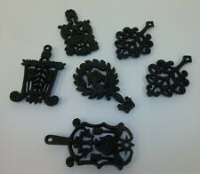 Lot 6 Small Cast Metal Fancy Footed Kitchen Trivets