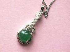 CHINESE JADE MUSIC INSTRUMENT PENDANT NECKLACE WOMEN MEN JEWELLERY PARTY GIFT PO