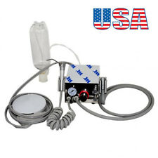 FDA Portable Dental Turbine Unit Work With Air Compressor 4 Hole Triplex Syringe