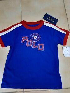 New Polo Ralph Lauren Short Sleeve T Shirt Top  Blue Age 2 / 2T unisex