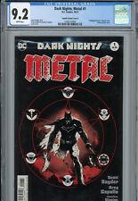 Dark Nights: Metal #1 (Capullo Variant Cover E: Partial Sketch Cover) CGC 9.2