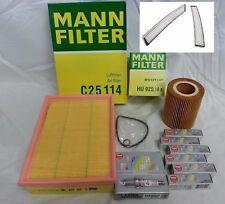 BMW E46 E39 Tune-up Kit NGK Spark Plugs Mann Oil+Air+Cabin Filters Mag Drain