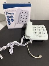 Emerson EM300WH Big Button Phone for Elderly Seniors, White with Speakerphone