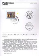 ITALIA 2000 FIERA DI SANT'ORSO BOLLETTINO COMPLETO DI FRANCOBOLLI FDC