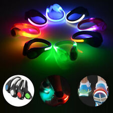 (1 PAIR) LED SHOE Light glow CLIPS for night safety leg running walking jogging