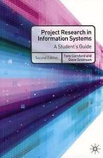Project Research in Information Systems: A Student's Guide, Good Condition Book,