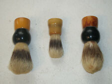 3 Vtg Shaving Brushes 2 Fuller Brush 1 Rubberset 2-Tone Bakelite Badger Bristles