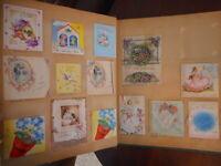 1940's Ephemera Scrapbook wedding gifts Christmas Cards 1942 History