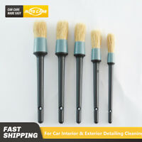 5PCS/Set Car Detail Cleaning Brush Seat Interior Clean Kit For Tyre Wheel Rim