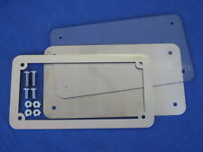 Motorcycle number plate frame / surround, & clear lens and back plate.