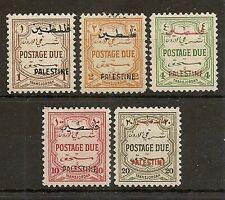 PALESTINE 1948 POSTAGE DUE P12 SET PD25/29 MINT