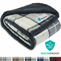 WATERPROOF Dog Blanket for Small Dog Puppy Cat Throw Reversible Sherpa 30x40Inch
