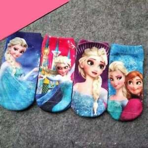 Frozen Girls Toddler Multi Pack Socks set -4 Pairs (2-5years) & (5-10years)