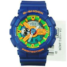 ORIGINAL CASIO G SHOCK GA-110FC-2A BLUE GREEN SPORT WATCH HYPER COLORS BIG FACE