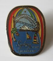 Vintage Look Sydney Australia Opera House, Harbour Bridge Collectable Badge Pin