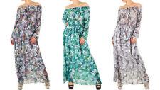 Shoulder aus Polyester-Off Damenkleider mit in Größe XL