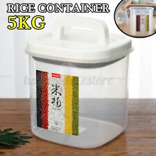 New listing 5kg Clear Container Storage Holder Rice Bean Cereal Organzier Grain Box +