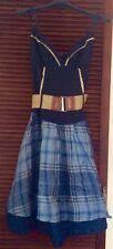 RINASCIMENTO Blue Linen Dress