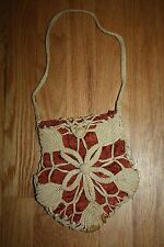 Vintage 20s 30s cool purse hand bag charming antique crochet lace