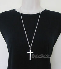 "FANCY DRESS CROSS NECKLACE 30"" CHAIN PRIEST VICAR VAMPIRE ACCESSORIES JEWELLERY"
