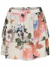 *889/2 NEU ONLY Damen Mini Sommer Lagen Rock onlMOJO AOP SKIRT BOX WVN Gr.38