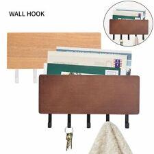 Key Holder Mail Rack Entryway Shelf Wall Mount Hooks Letter Key Sorter Organizer