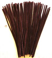 New Chenille Craft Pipe Cleaners BROWN Chenille Stems 30cm x 6mm Pack Of 50