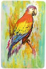 SWAP CARD. SCARLET MACAW PARROT BIRD PAINTING. WHITMAN USA. EXC COND