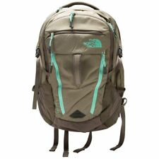 """NWT THE NORTH FACE Women's SURGE 15"""" LAPTOP BACKPACK Brown/Mint $129 ANB"""